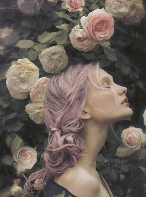 rose girl ethereal mermaid